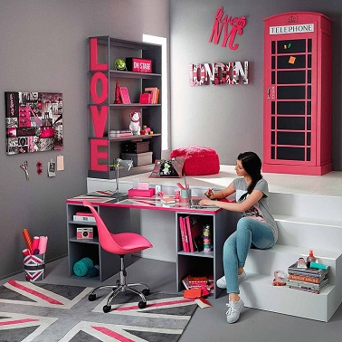 D co chambre ado girly - Chambre de fille ado ...