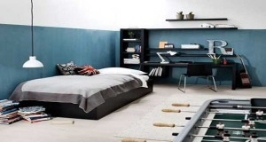 chambre ado garcon d co angleterre avec mezzanine. Black Bedroom Furniture Sets. Home Design Ideas