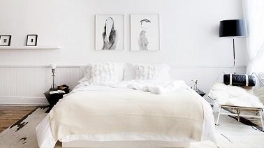 Chambre blanche et d co zen on adore - Chambre design blanche ...