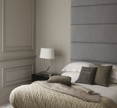 Une chambre grise peinture couleur Silver Grey Zoffany