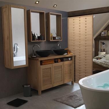 Cloison amovible 10 castorama for Separation entre chambre et salle de bain