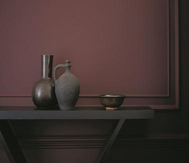 Du rouge tirant sur le bordeaux chaleureux couleur Red Shaker peinture Zoffany