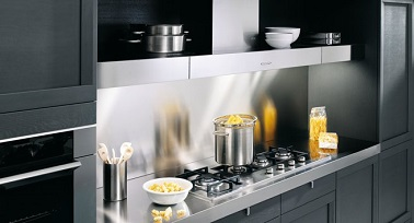 Cr dence inox petite cuisine design perene for Credence pour cuisine pas cher