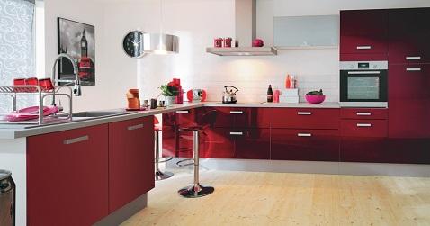 12 inspirations d co pour une cuisine rouge deco cool for Decoration cuisine rouge