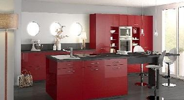 12 inspirations d co pour une cuisine rouge deco cool for Cuisine americaine rouge