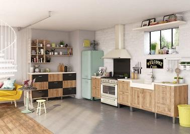 Cuisine vintage meubles bois inspiration cuisine - Meubles cuisine vintage ...