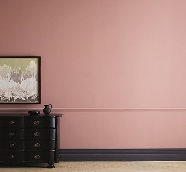 mur rose couleur peinture tuscan pink zoffany. Black Bedroom Furniture Sets. Home Design Ideas