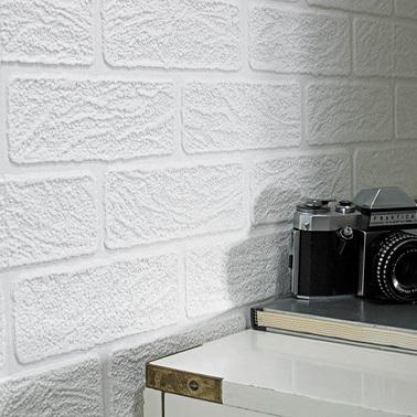 Le papier peindre graham brown d core les murs for White brick wallpaper bedroom