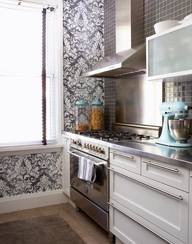 Papier peint cuisine 20 exemples d co pour l 39 adopter - Castorama papier peint cuisine ...