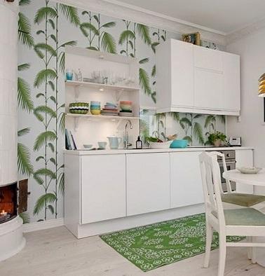 Papier peint cuisine 20 exemples d co pour l 39 adopter - Papiers peints cuisine ...