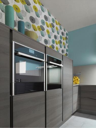 Papier peint cuisine 20 exemples d co pour l 39 adopter for Papier peint trompe l oeil cuisine