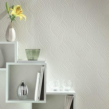 peindre papier peint blanc motifs vagues graham brown. Black Bedroom Furniture Sets. Home Design Ideas