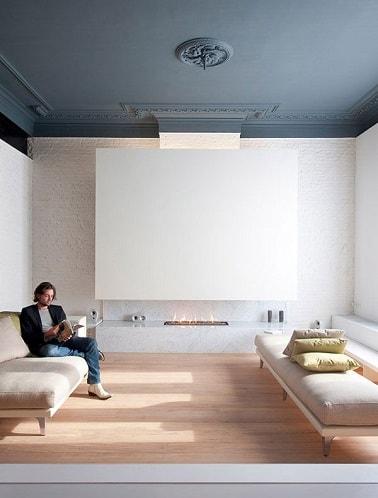 Peindre un plafond avec une peinture couleur d co for Peindre parquet en gris