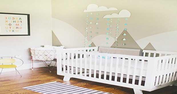 Peinture chambre b b 7 conseils pour bien la choisir - Papier peint chambre bebe fille ...
