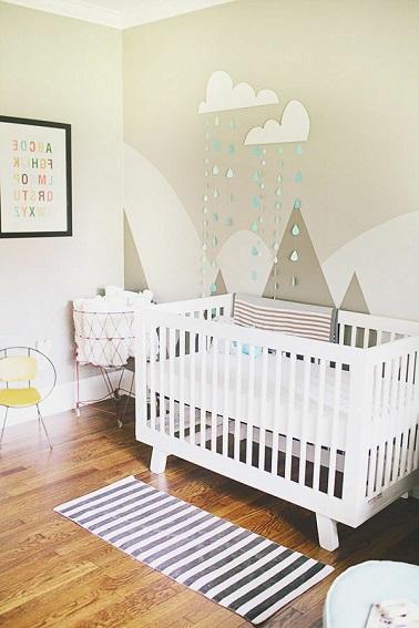 Peinture chambre b b 7 conseils pour bien la choisir for Peinture murale chambre enfant