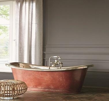 Une couleur grise profonde dans la salle de bain couleur City Grey peintures Zoffany