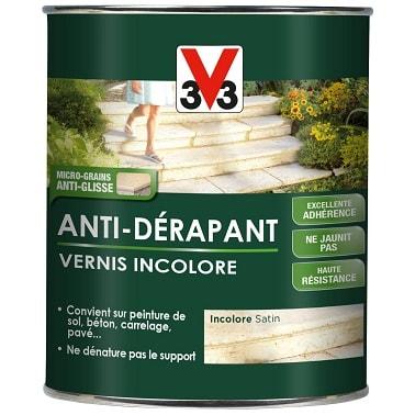 Peinture vernis incolore antid rapant v33 for Vernis pour carrelage exterieur