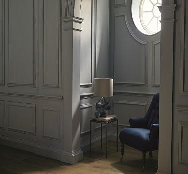Une peinture pour petit salon gris moderne Empire Grey Zoffany