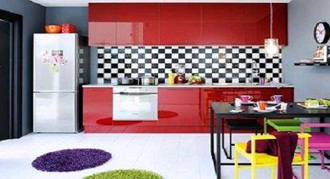 12 inspirations d co pour une cuisine rouge deco cool. Black Bedroom Furniture Sets. Home Design Ideas