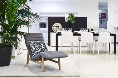 Le pop store Habitat c'est aussi l'occasion de découvrir de nouvelles tendances en matière de mobilier comme une fauteuil design vintage ou un canapé moderne confort.