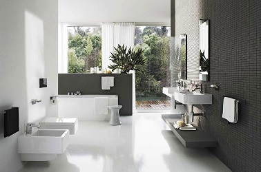 Une Salle De Bain Avec Carrelage Gris Anthracite Design