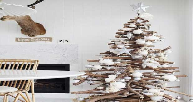 Sapin de no l en bois 10 diy d co pour s 39 inspirer - Fabrication decoration de noel ...