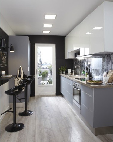 5 am nagements pour une cuisine en longueur deco cool for Amenagement salon en longueur