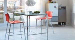 petites tables de cuisine en 14 mod les d co gain de place. Black Bedroom Furniture Sets. Home Design Ideas