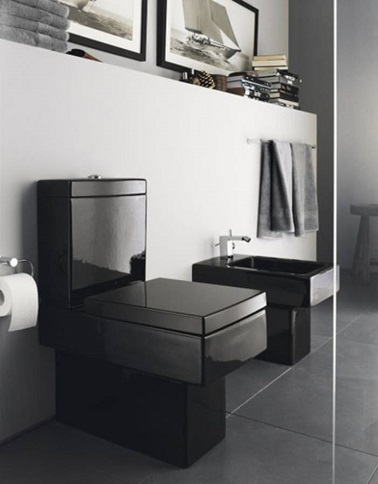 wc cuvette noire design. Black Bedroom Furniture Sets. Home Design Ideas