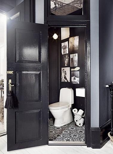 Des wc noir une couleur d co pour les toilettes - Ou trouver des carreaux de ciment ...