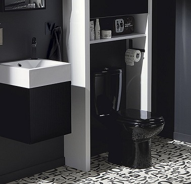 deco wc noir. Black Bedroom Furniture Sets. Home Design Ideas