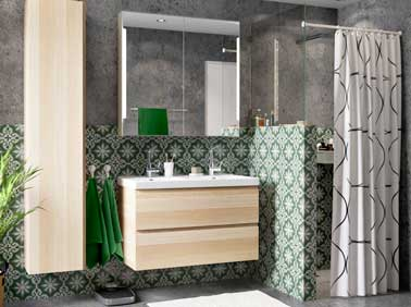 amabiance ikea godmorgon odensvik meuble lavabo 2tir effet ch ne blanchi ch ne blanchi 309. Black Bedroom Furniture Sets. Home Design Ideas