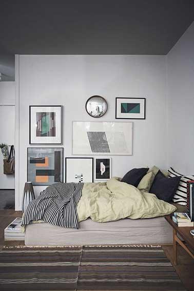 Ambiance couleur d co cosy avec une chambre grise for Chambre parentale grise