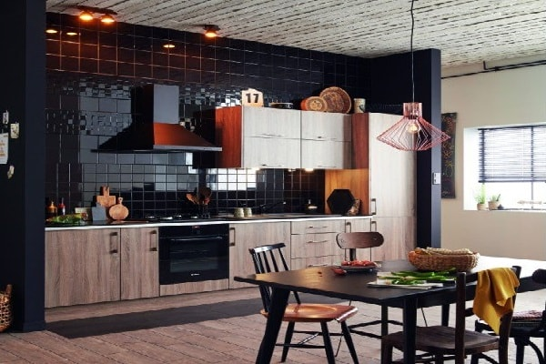 amenagement ouvert cuisine americaine leroy merlin. Black Bedroom Furniture Sets. Home Design Ideas