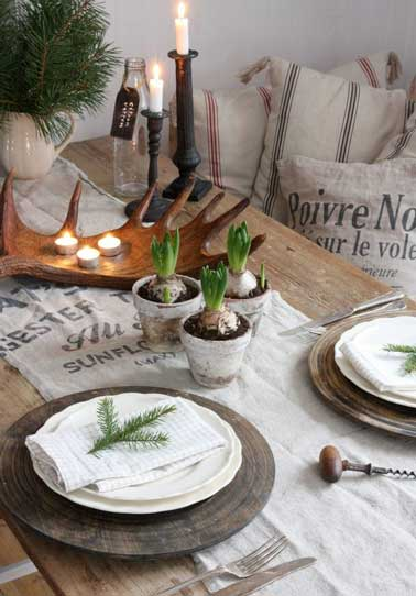 Bonne idee table de noel centre de table a faire soi meme - Idee deco table noel a faire soi meme ...