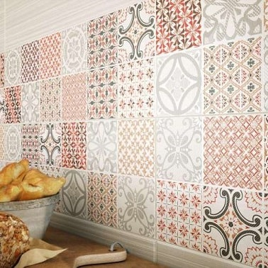 Des carreaux de ciment en cr dence cuisine eiffel art construction - Carreaux de ciment mural ...