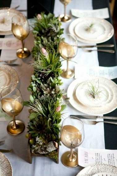 Centre de table deco pour noel baroque - Deco noel centre de table ...