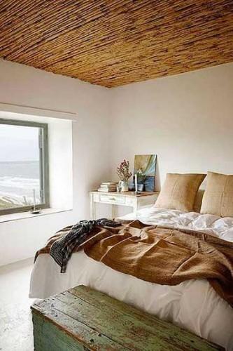 Chambre parentale couleur lin ambiance cocooning for Quelle couleur dans une chambre