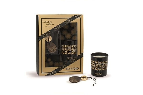 coffret de bougies parfumees deco cadeaux noel esteban. Black Bedroom Furniture Sets. Home Design Ideas