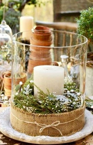 Creer un centre de table de noel pas cher - Deco table de noel pas cher ...