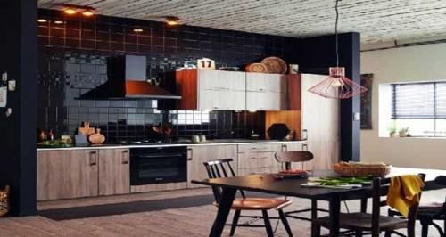 Cuisine am ricaine un espace moderne ouvert sur s jour for Sejour avec cuisine ouverte