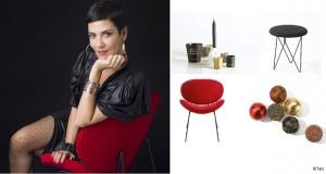 Pour une déco de Noël stylée Cristina Cordula et Tati s'associent pour nous proposer une déco de table, de sapin de Noël et petit mobilier chic et pas chère en Noir, doré et rouge