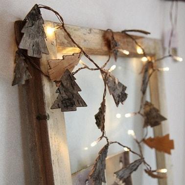Guirlande lumineuse d co sapin de no l bois la redoute for Guirlande bois flotte maison monde
