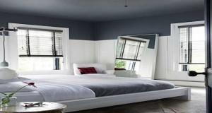 Peindre un plafond en couleur structure l'espace et la déco d'une pièce. Gris anthracite, rouge, bleu, rouge ou aubergine, 9 photos de plafonds peints en couleur pour une déco unique