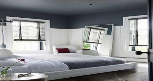 peindre un plafond avec une peinture couleur d co. Black Bedroom Furniture Sets. Home Design Ideas
