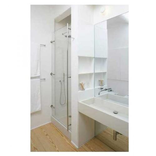 Les niches encastrée dans cloison de la douche, une astuce rangement dans une petite salle de bain