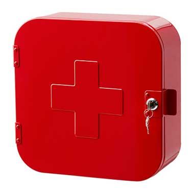 Petite salle de bain armoire de rangement pharmacie rouge for Petite armoire de rangement salle de bain