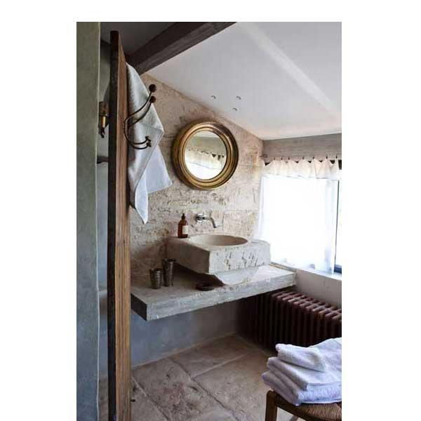 Petite salle de bain plan vasque en pierre - Petite salle de bain plan ...