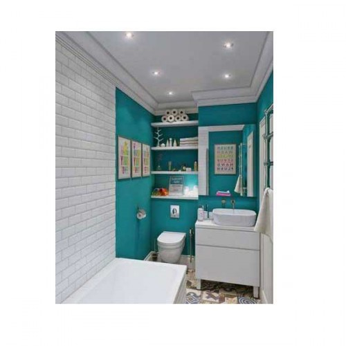 petite salle de bain moderne astucieusement aménagée avec niche de ...