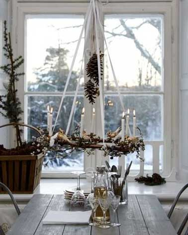 Table de no l style campagne chic - Decoration maison de campagne chic ...